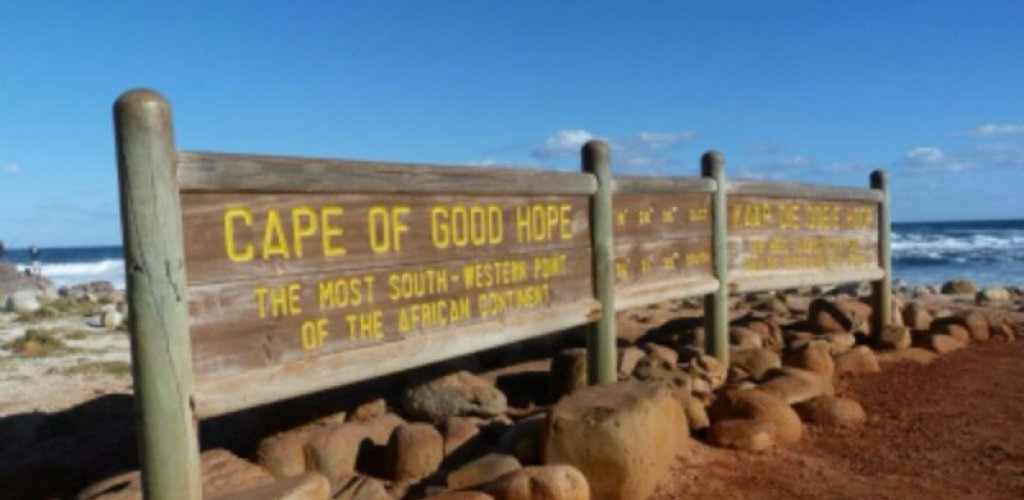 Our journey begins from the Cape of Good Hope, the most south-western point  ...