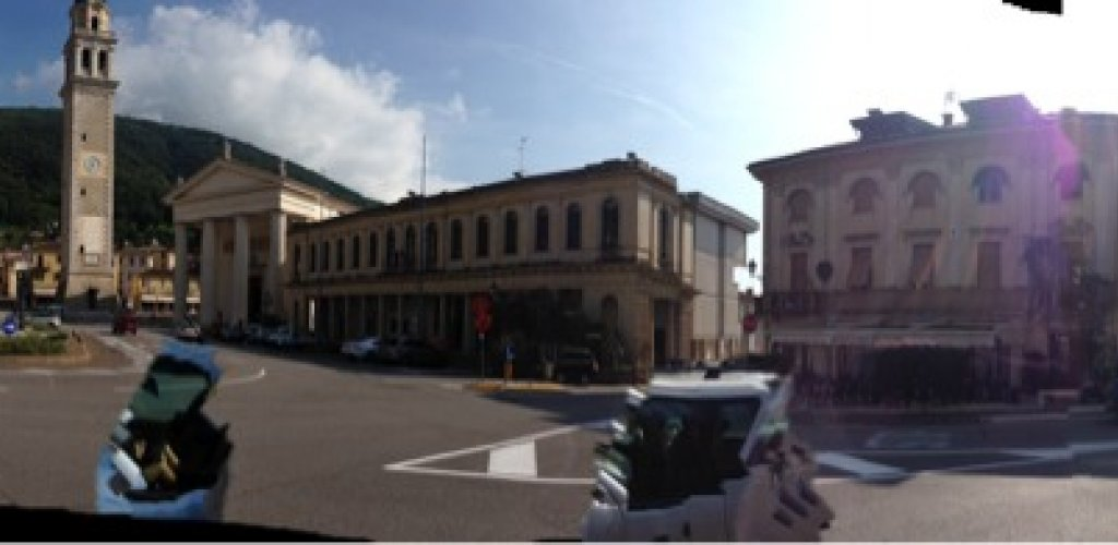 First stop Valdobbiadene, with an absolutely lovely square!